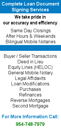 Florida Mobile Notary Services | Coastal Closing Corp